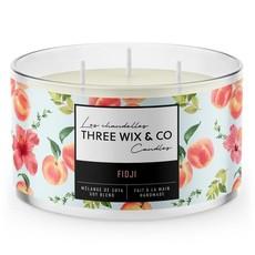Three Wix & Co. Chandelle à trois mèches - Fidji