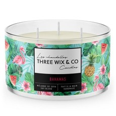 Three Wix & Co. Chandelle à trois mèches - Bahamas