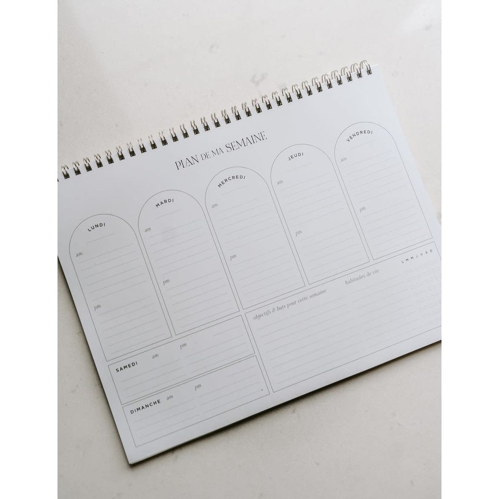 Valorise Cahier hebdomadaire - Plan de ma semaine