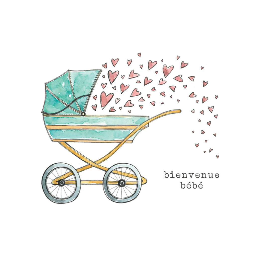Stéphanie Renière Carte - Bienvenue bébé poussette