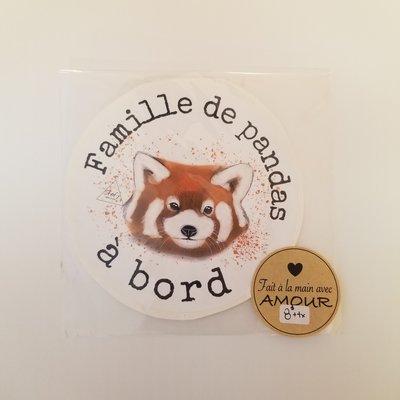 Stefy Artiste Autocollant pour la voiture - Panda roux