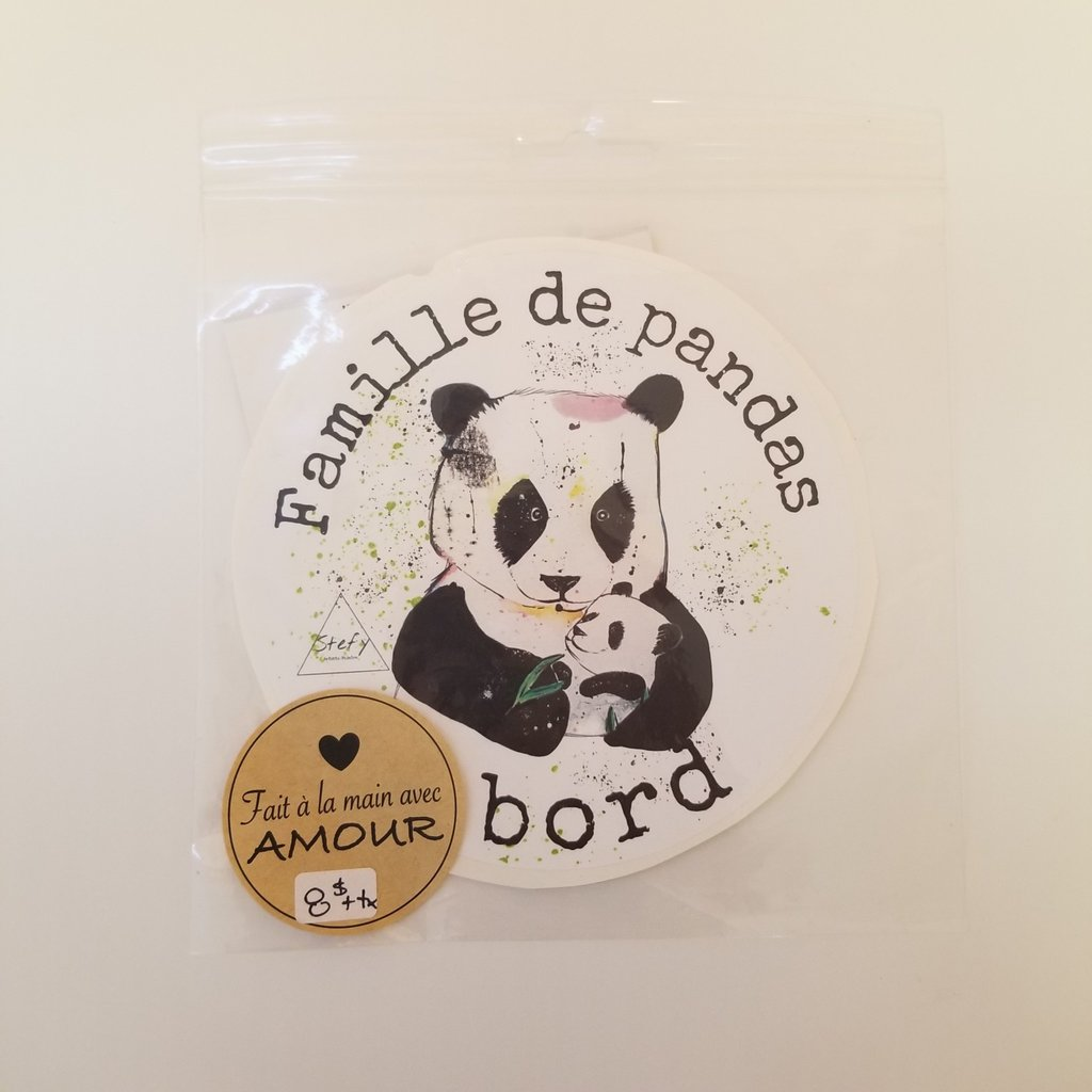 Stefy Artiste Autocollant pour la voiture - Panda