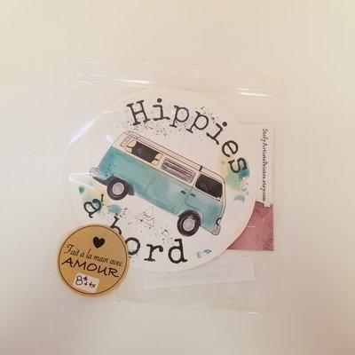 Stefy Artiste Autocollant pour la voiture - Hippies