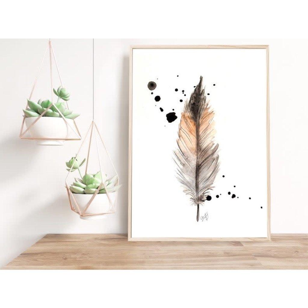 Stefy Artiste Affiche aquarelle - Plume