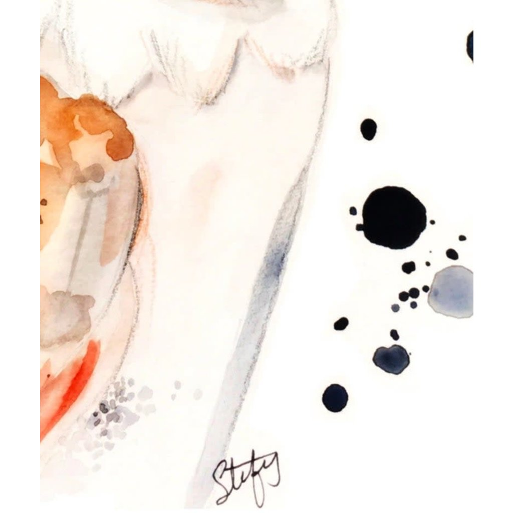 Stefy Artiste Affiche aquarelle - Chouette