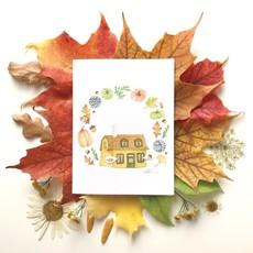 KatrinnIllustration Carte - Maison d'automne