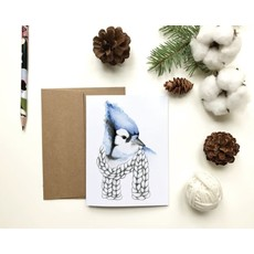 KatrinnIllustration Carte - Geai Bleu