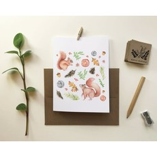 KatrinnIllustration Carte - Écureuils