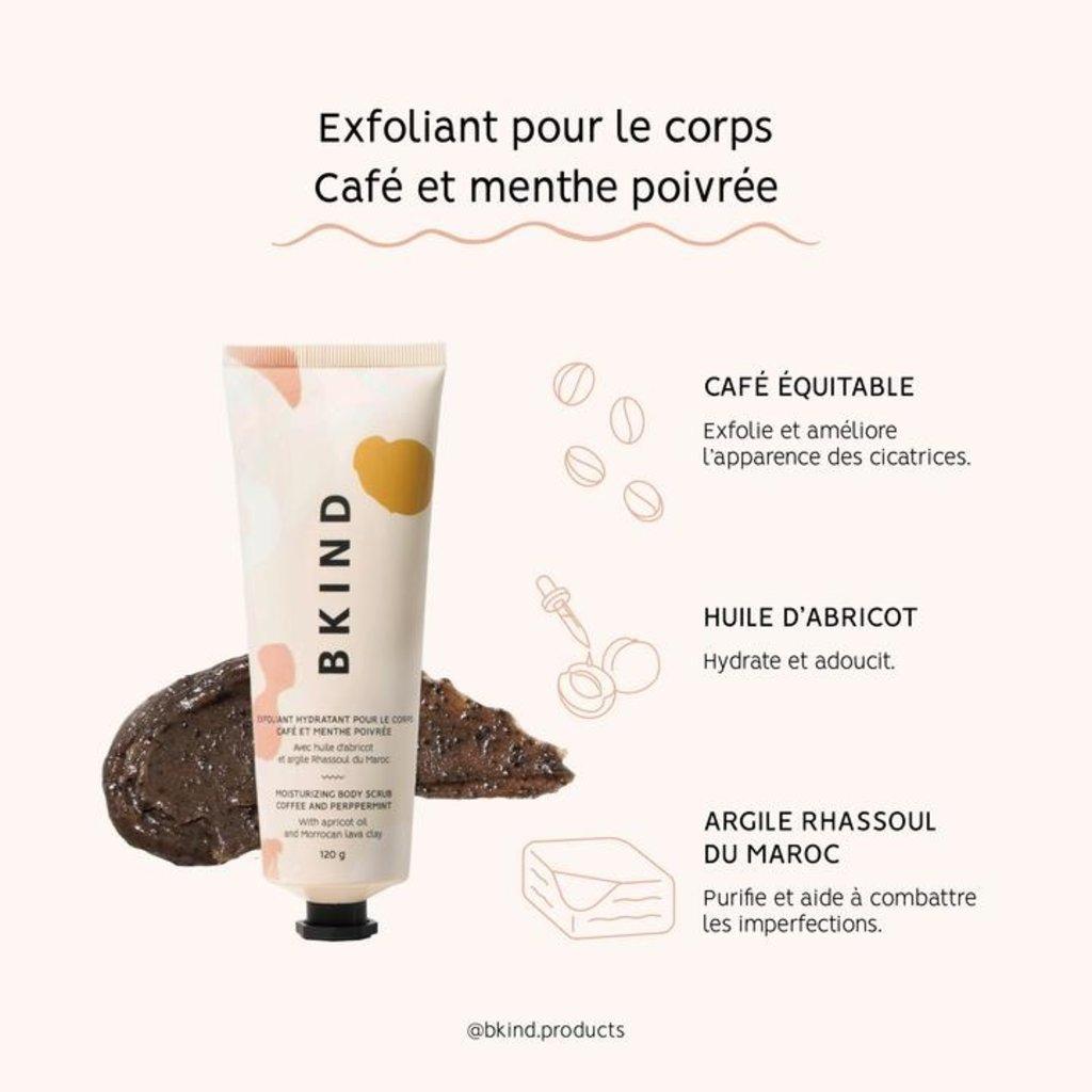 BKIND Exfoliant hydratant pour le corps - Café et menthe poivrée