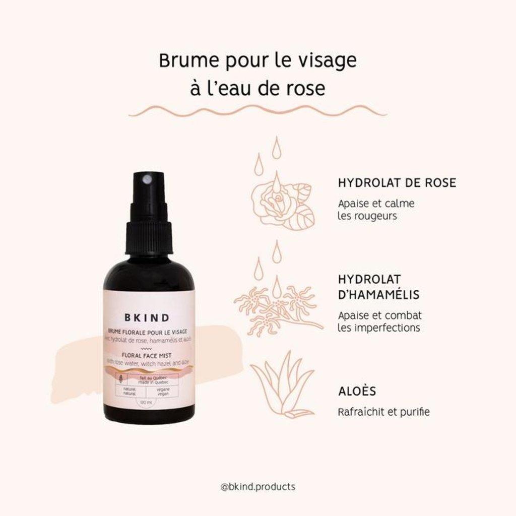 BKIND Brume pour le visage à l'eau de rose