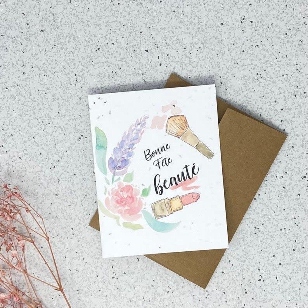 Kit de Survie Carte ensemencée - Bonne fête beauté