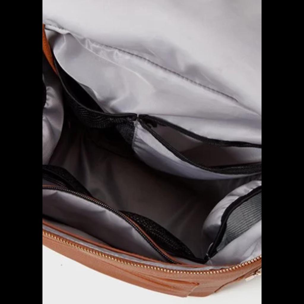 Collection Mini Coco Sac à couches/Sac à dos - Faux cuir brun
