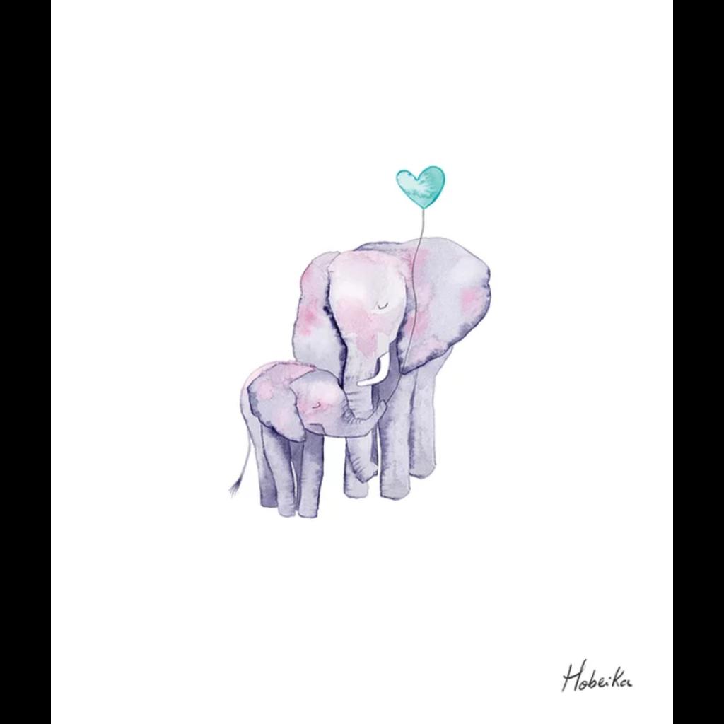 Hobeika Art Affiche - Éléphants