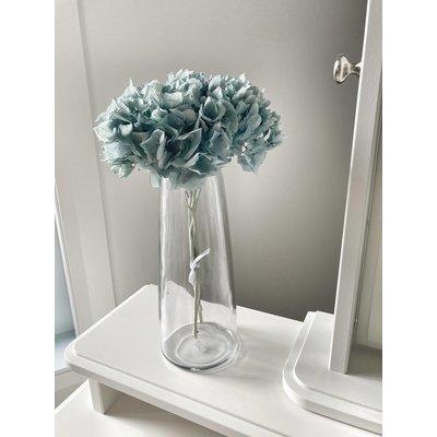 Eucalie Art Floral Bouquet - Hydrangée royal préservée bleu-vert