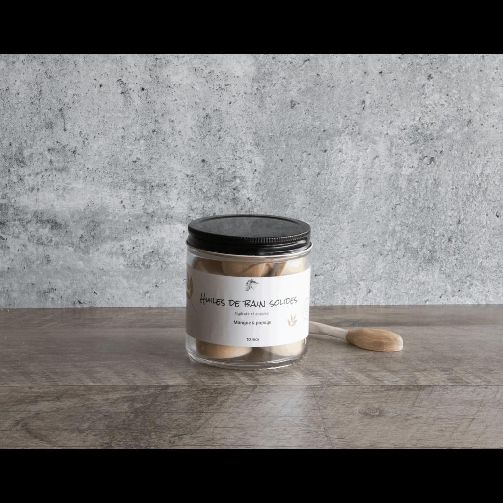 Poussière d'Étoile Huiles de bain solides - Mangue & Papaye