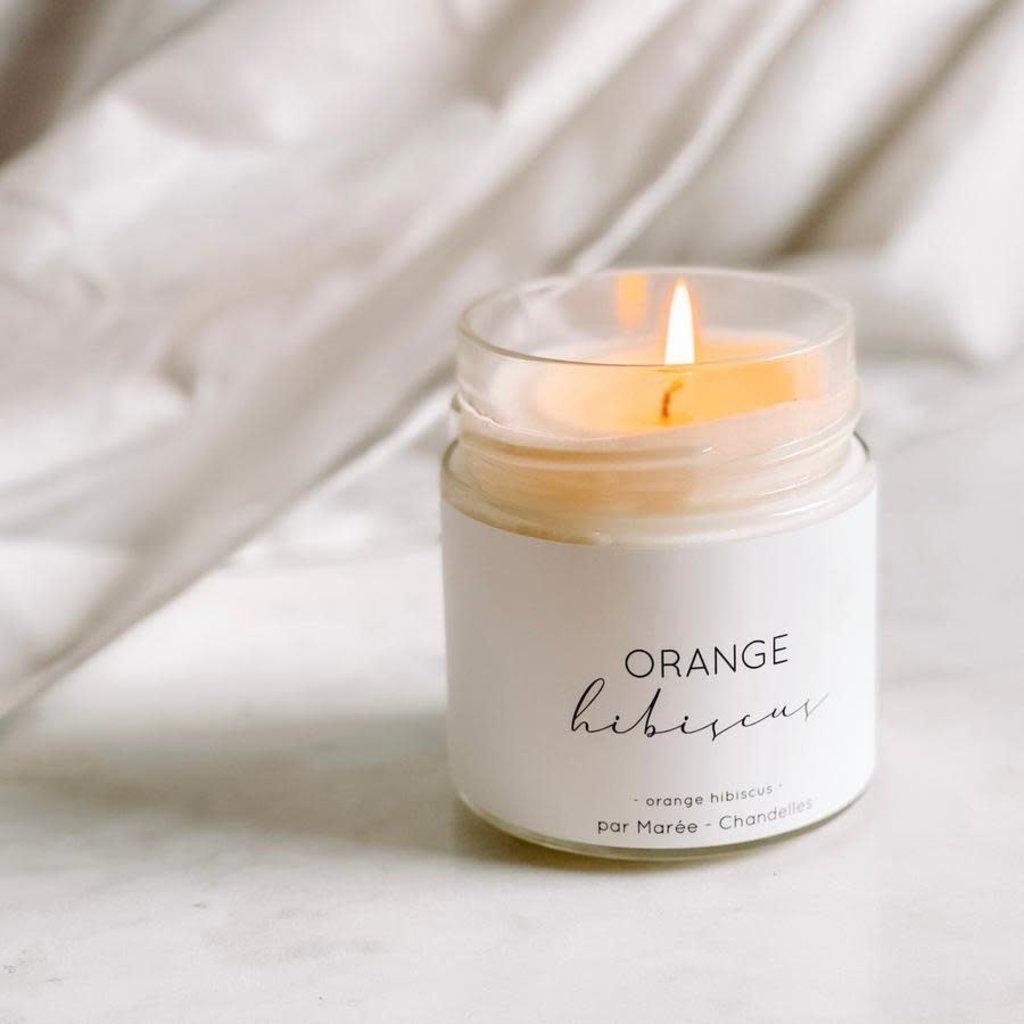 Les produits Marée Chandelle de soya - Orange et hibiscus