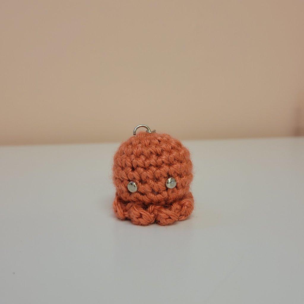 Porte-clés en crochet - Pieuvre