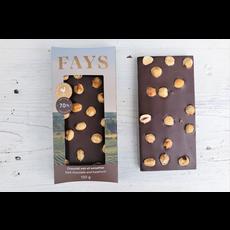FAYS Terroir Chocolaté Tablette de chocolat noir 70% et noisettes