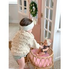 Poppie Toys Bassinette pour poupée en rotin - Argile