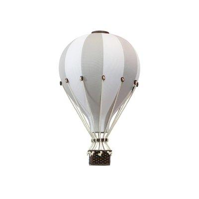 Super Balloon Montgolfière décorative - Gris pâle et blanc