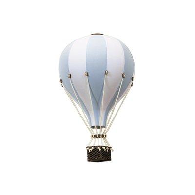 Super Balloon Montgolfière décorative - Bleu pâle et blanc