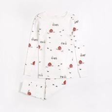 Petit Lem Ensemble pyjama blanc cassé à imprimé (2 pcs.) - Grange