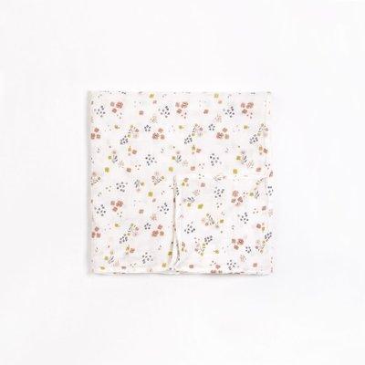 Petit Lem Lange blanc cassé en mousseline à imprimé « Fleurs des champs »