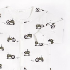 Petit Lem Dormeuse blanc cassé à imprimé - Tracteur rétro