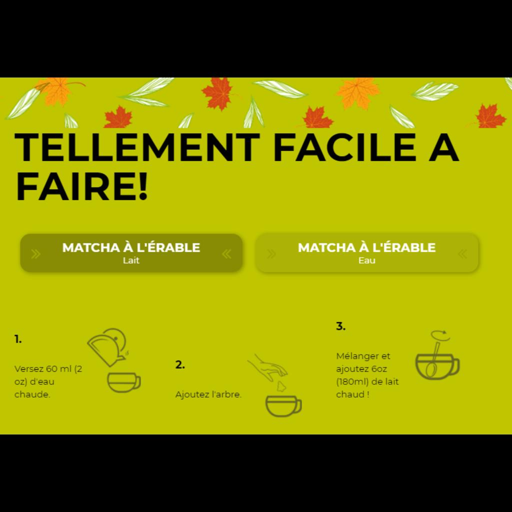 Poseidn Mélange 3D pour thé - Matcha Érable