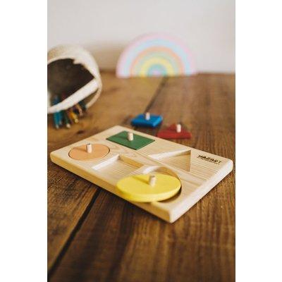 Argile et Osier Puzzle en bois pour apprendre les formes
