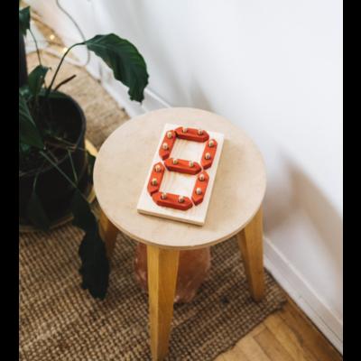 Argile et Osier Jouet en bois pour apprendre les chiffres