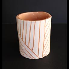 Argile et Osier Vase minimaliste en céramique
