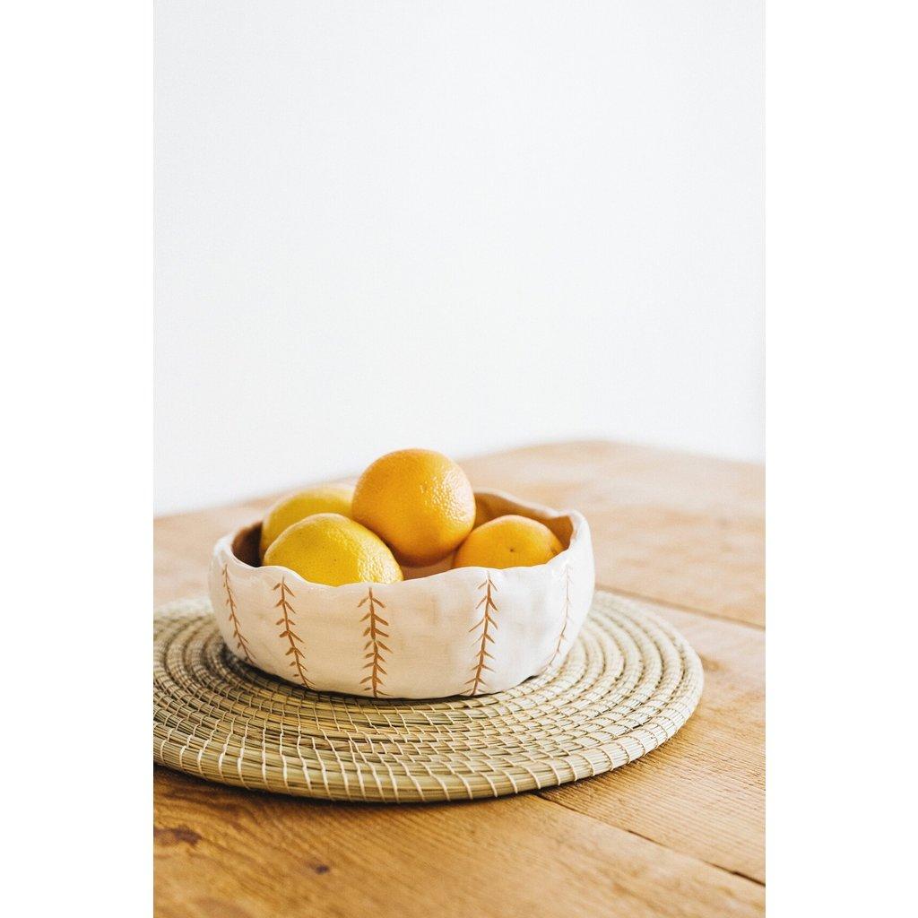 Argile et Osier Bol à salade minimaliste en céramique moderne