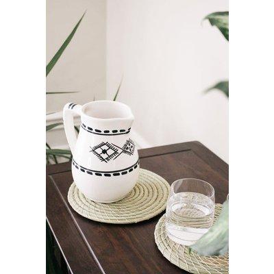 Argile et Osier Carafe en céramique
