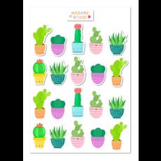 Madame 4thou Feuille d'autocollants - Cactus