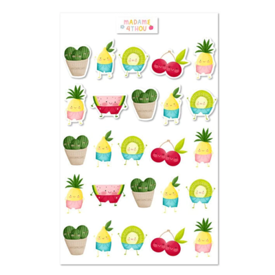 Madame 4thou Feuille d'autocollants - Fruits