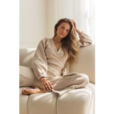 Dailystory clothing Chandail wrap Stella - Sable