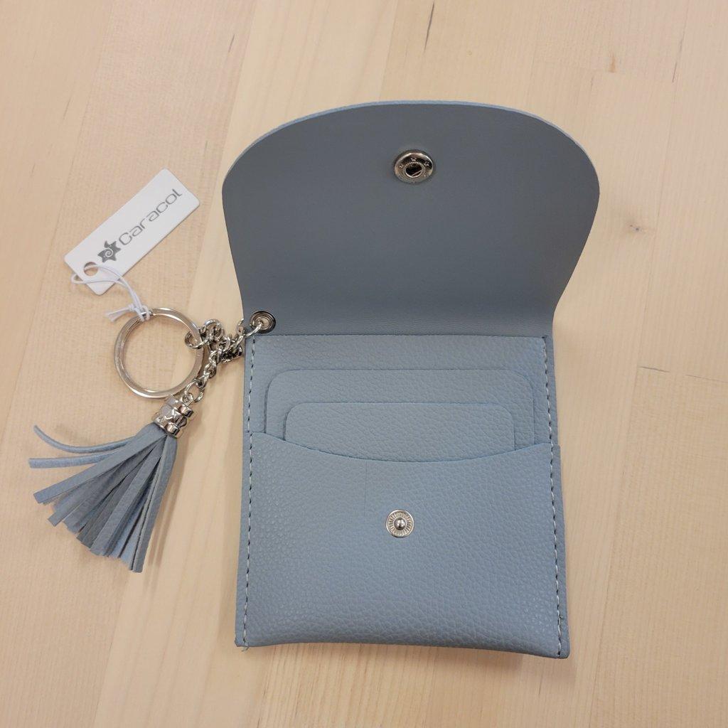 Caracol Porte-cartes avec porte-clés - Bleu ciel