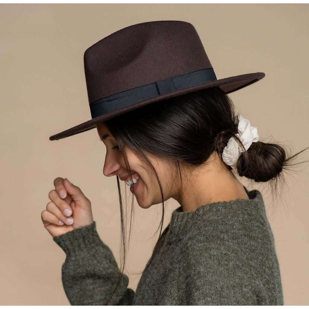 Rose Maternité Chapeau feutre  - Brun espresso