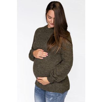 Rose Maternité Chandail Évelyne - Eucalyptus