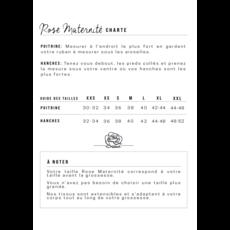 Rose Maternité Robe Jeanne - Gris perle