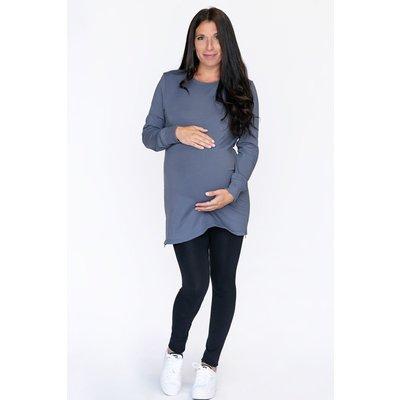 Rose Maternité Legging collant sans pieds - Noir