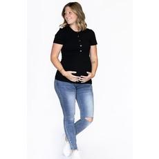 Rose Maternité Jeans de maternité - Bleu avec trou