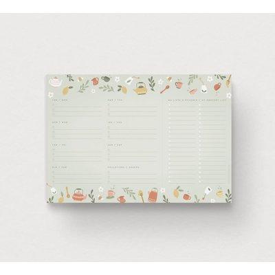 Mimosa Design Planificateur de repas hebdomadaire - Tea Party