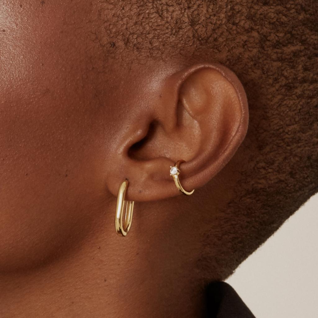 Twenty Compass Ear cuff Sparkle - Vermeil