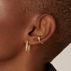 Twenty Compass Ear Cuff Sparkle - Argent sterling