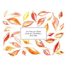 Stéphanie Renière Carte - L'automne...