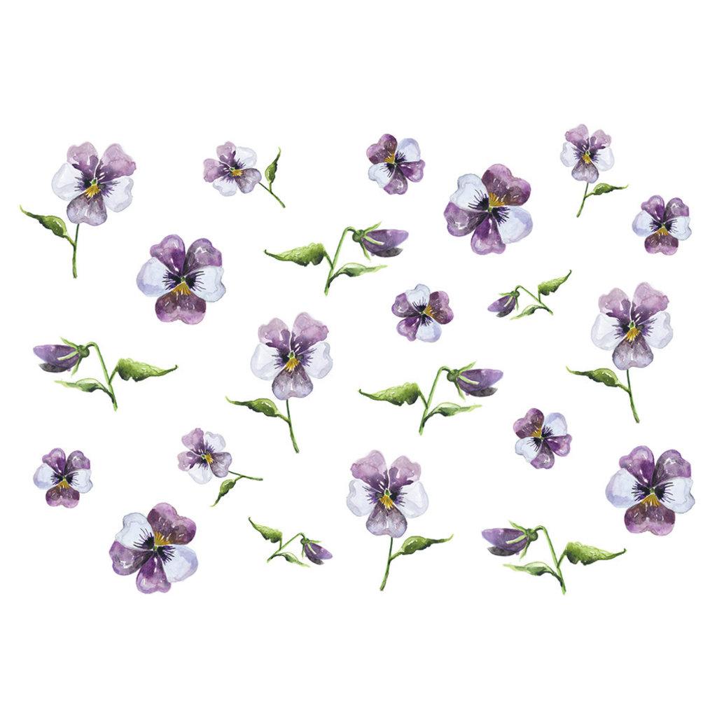Stéphanie Renière Carte - Pensées violettes