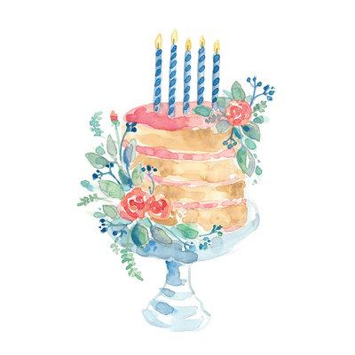 Stéphanie Renière Mini carte - Gâteau de fête