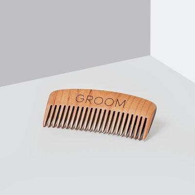 Groom Peigne à barbe en bois